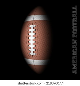 American football on black. Vector illustration.