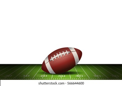 American football is on the field. Vector Illustration design. Rugby sport.