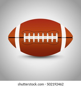 American football on grey background. Vector illustration.