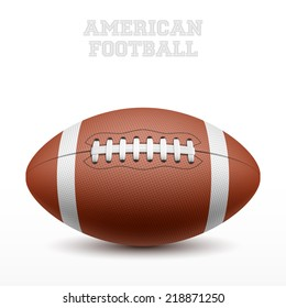 American football on white. Vector illustration.