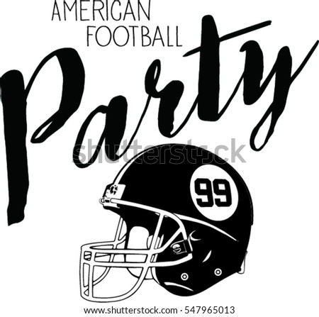 american football party design template illustration stock vector