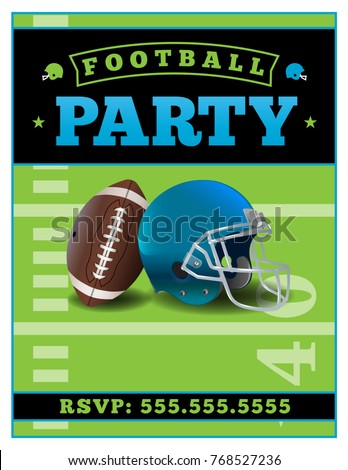 american football party flyer template illustration stock vector