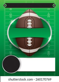 American football party illustration. Vector EPS 10. EPS contains transparencies.