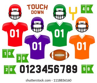 American Football photo booth props