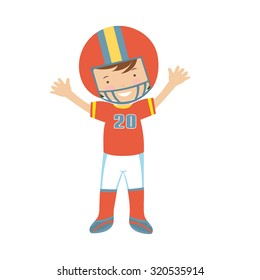 American Football player character illustration in vector format