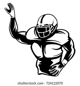 American football player. Quarterback isolated on white. sport theme vector illustration.