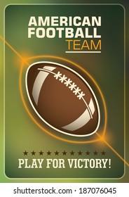 American football poster design. Vector illustration.