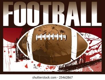 American football poster. Vector illustration.