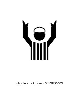 american football referee icon.Element of popular american football  icon. Premium quality graphic design. Signs, symbols collection icon for websites, web design,