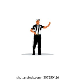 American football referee sign. Vector Illustration. Branding Identity Corporate logo design template Isolated on a white background
