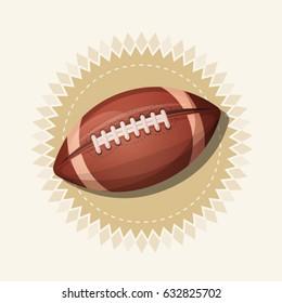 American Football Retro Banner/ Illustration of an american football sport banner, with retro design