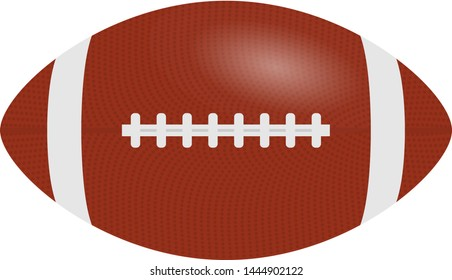 American Football, rugby ball isolated on a white background. Realistic Vector Illustration. Rugby sport. Eps 10