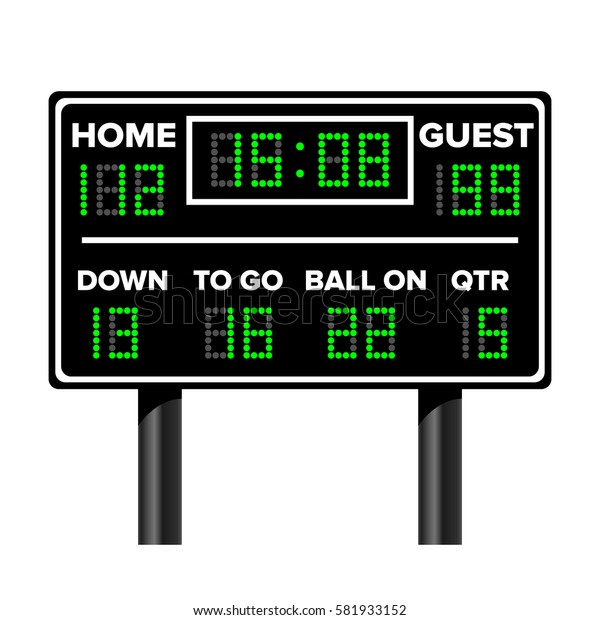 American Football Scoreboard. Vector Illustration