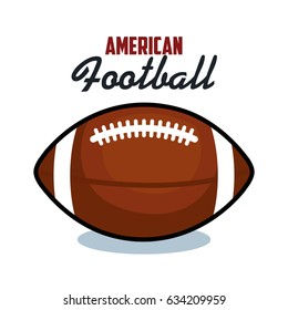american football sport ball isolated icon