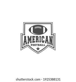 american football sports logo on white background