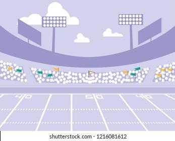 american football stadium scene