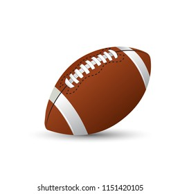 American football standard ball sports illustration