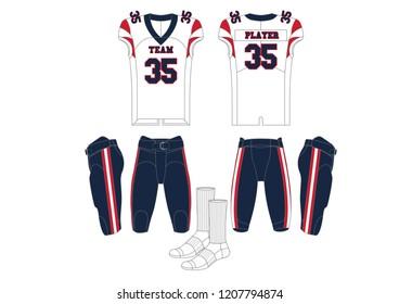American Football Team Uniform