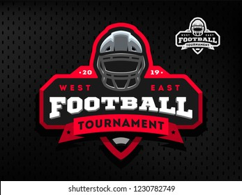 American Football tournament emblem, logo.