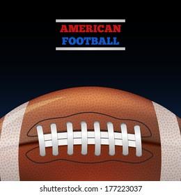 American Football. Vector