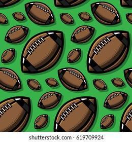 American Football Vector Seamless Pattern