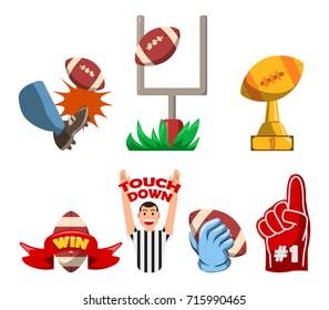 American Football Winning Fancy Badge