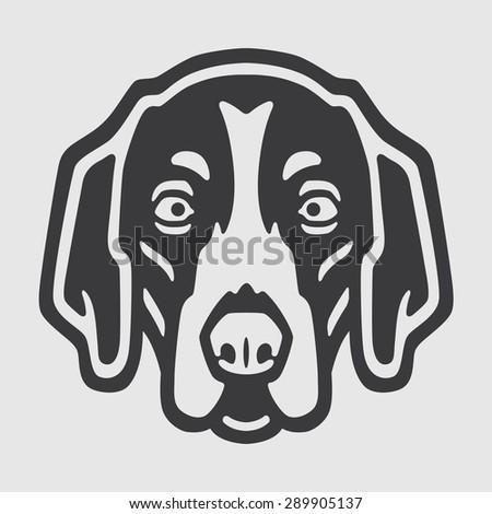 American Foxhound Head Logo Mascot Emblem