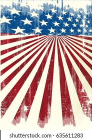 American frame background. A grunge american poster for your message