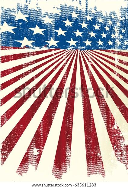 Arrière-plan cadre américain. Une affiche grunge américaine pour votre message