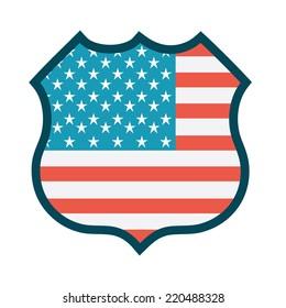 american graphic design , vector illustration