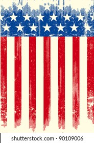 American grunge flag. An american grunge flag for a background of a poster.