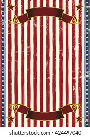 American grunge patriotic background. An american vintage background with a texture