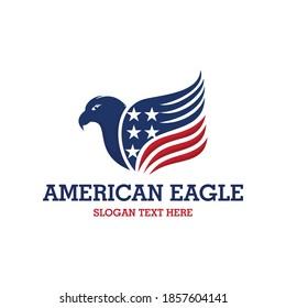 American Hawk Eagle Patriotic Business Logo