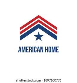 american home logo vector template