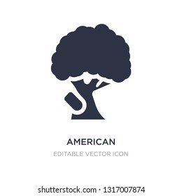 american hornbeam tree icon on white background. Simple element illustration from Nature concept. american hornbeam tree icon symbol design.
