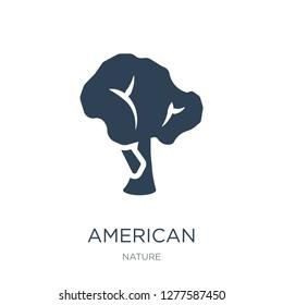 american hornbeam tree icon vector on white background, american hornbeam tree trendy filled icons from Nature collection, american hornbeam tree vector illustration