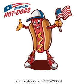 american hot dogs illustration