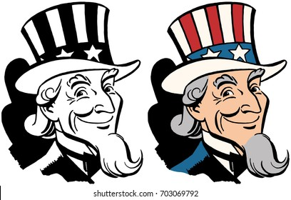 American icon and symbol of freedom Uncle Sam