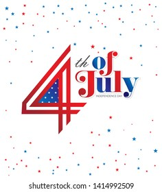 American Independence Day 4th of July Background Template Design