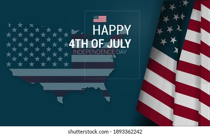 American independence day background. Vector illustration