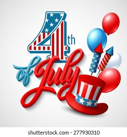 American Independence Day. Festive vector illustration EPS 10.