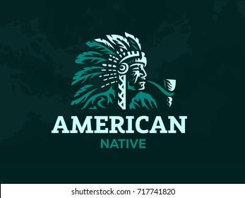 American Indian. Vector illustration.