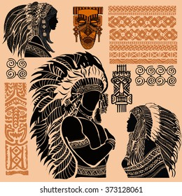 American Indians. A set of American Indians.