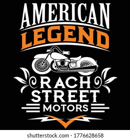 american legend typography t shirt design