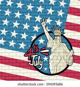American liberty illustration