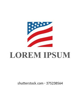 American logo design, icon, concept