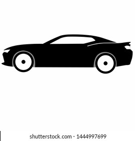 American muscle car Chevrolet camaro modern version vector isolated