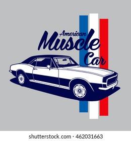 American Muscle Car vector T-shirt design