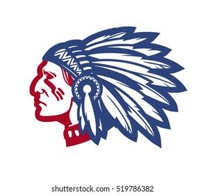 American native chief. Vector illustration