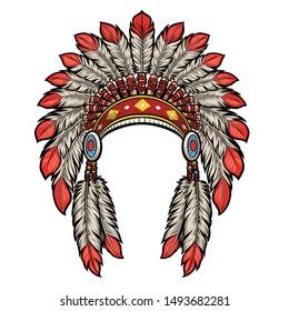 american native indian head dress
